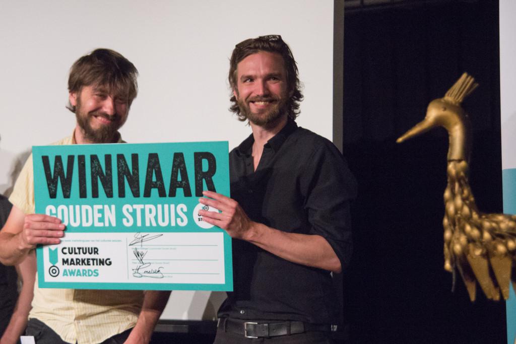 Winnaars van de Gouden Struis 2015: Leon Caren en Bas Morsch van We Are Public