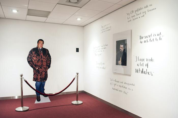 Film Museum Leiden, tentoonstelling met kartonnen Steven Seagal.