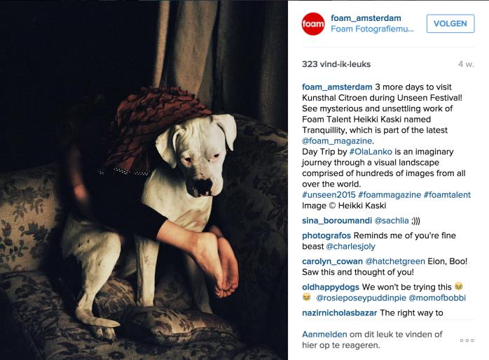 Foto op het Instagram account van FOAM Amsterdam