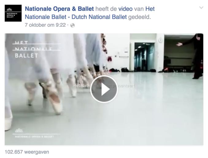 Filmpje op de Facebook pagina van de Nationale Opera & Ballet