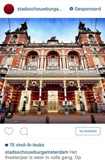 Advertentie van Stadsschouwburg Amsterdam op Instagram