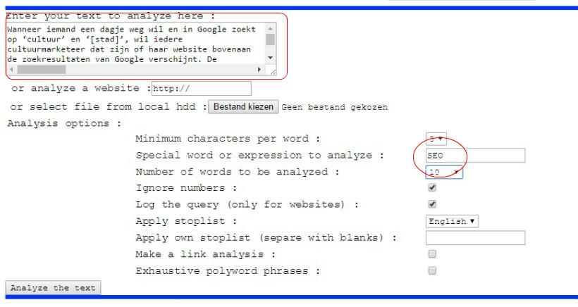 Textalyser 7 gratis SEO tools