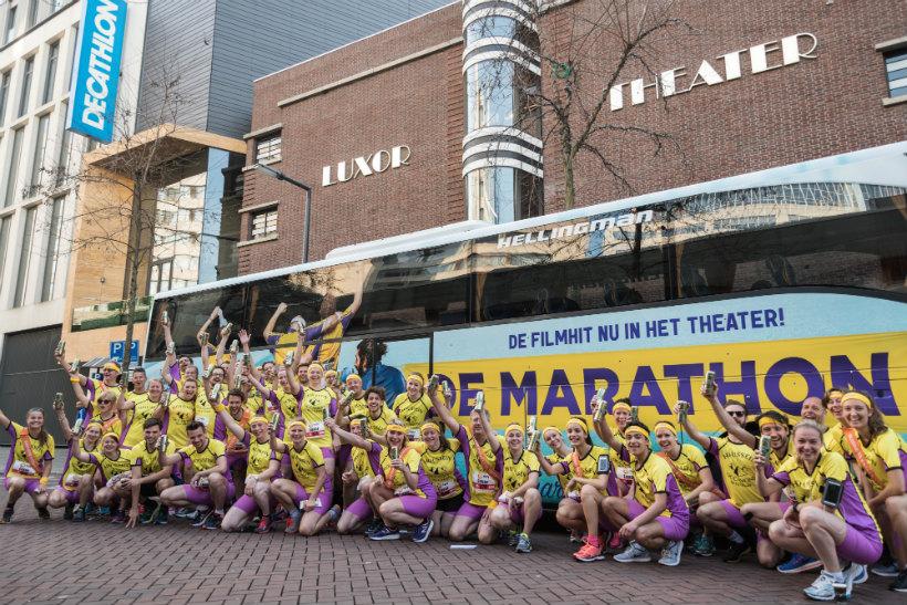 Werknemers van de marathon