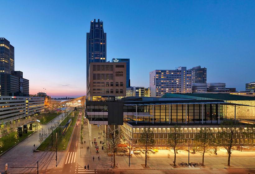Buitenzijde de Doelen Rotterdam