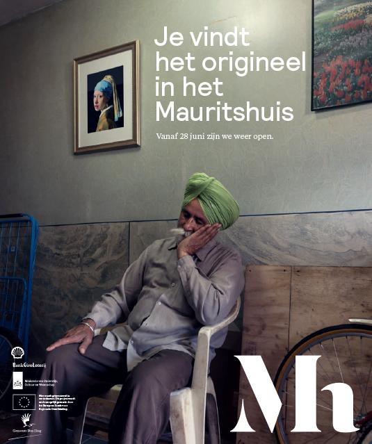 Gouden Struis-finalist Mauritshuis- campagnebeeld