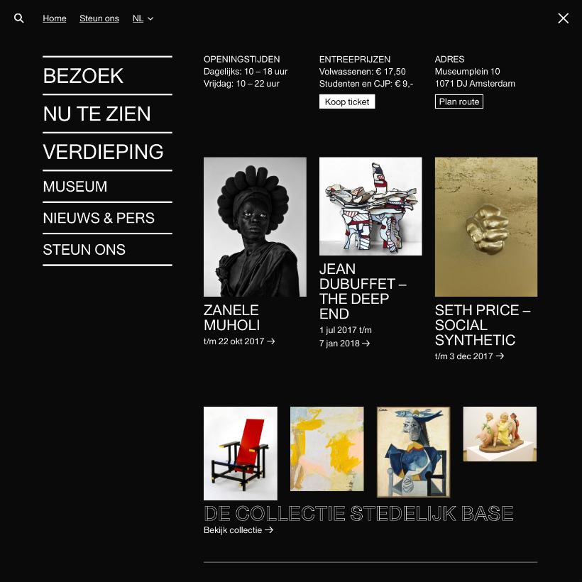 Menu website Stedelijk