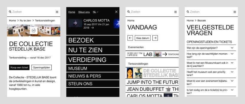 Mobiele website Stedelijk